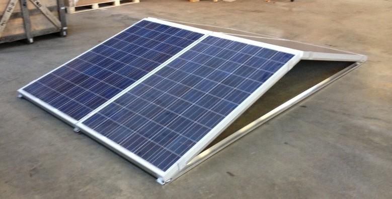 Oost-West beugel voor zonnepanelen op platte daken