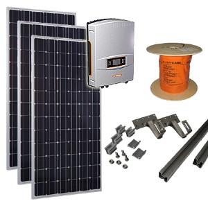 zonnepanelen set F / zonnepanelen pakket F - Zonnepaneln, omvormer, kabels en montagemateriaal