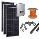 zonnepanelen set A / zonnepanelen pakket A - Zonnepaneln, omvormer, kabels en montagemateriaal