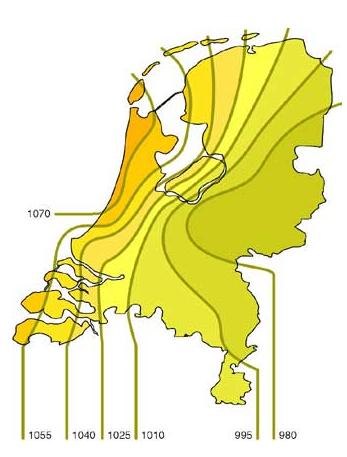 Zonaanbod in Nederland in uren per jaar